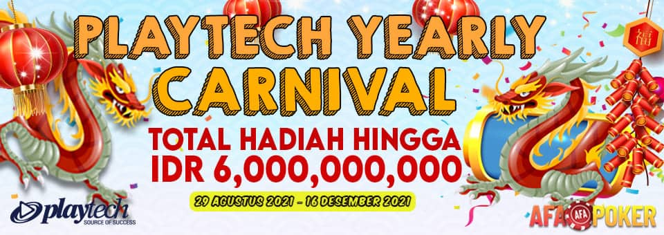 PROMO PLAYTECH YEARLY CARNIVAL